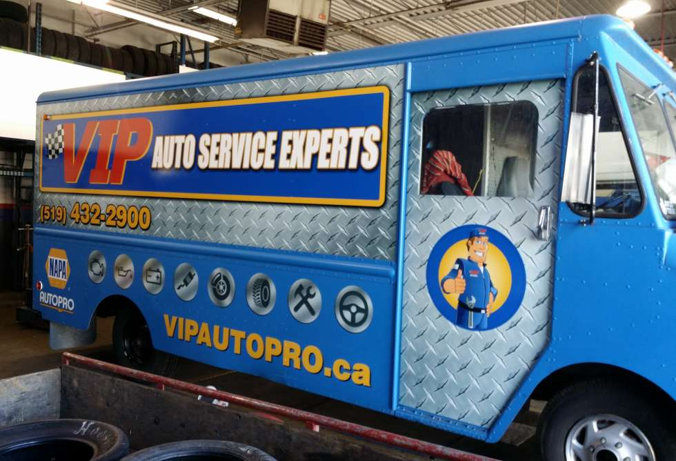 VIP Napa Auto Pro Partial Wrap - Design & Install By Why Design