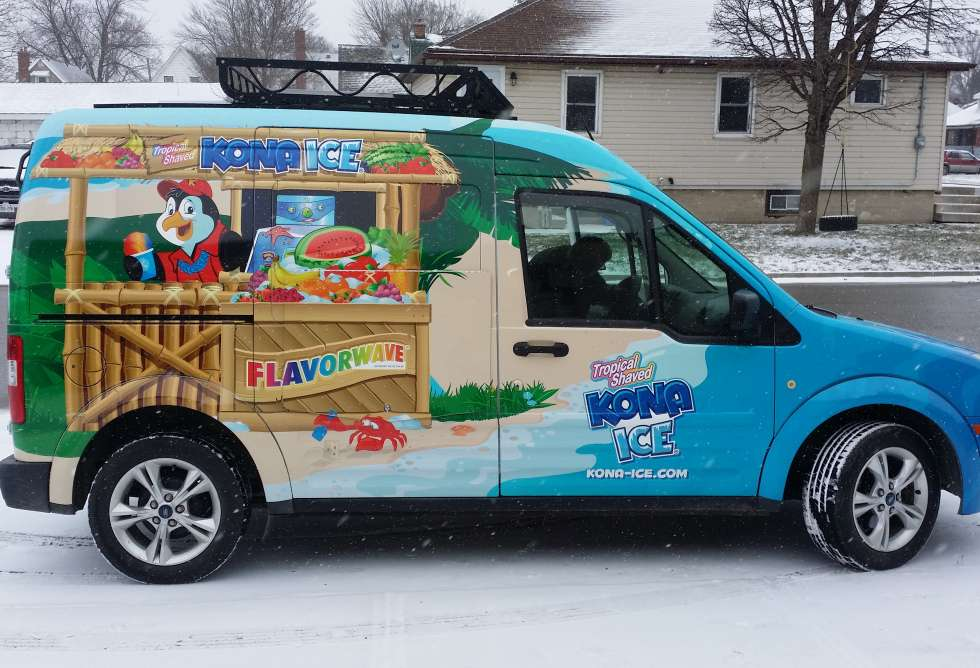 Kona Ice Van Wrap - Install By Why Design