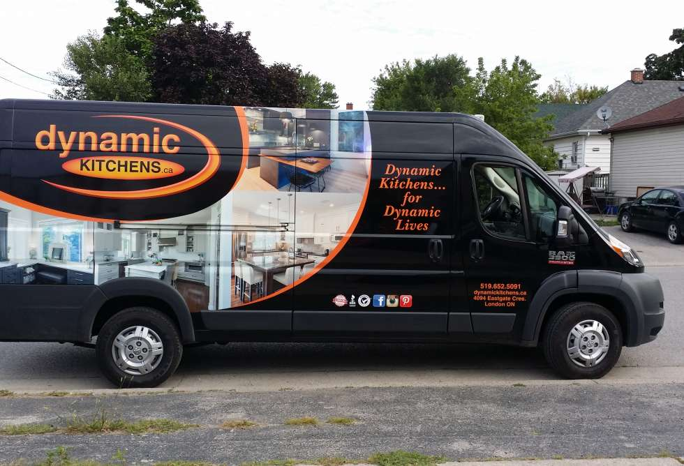 Dynamic Kitchens Van Half Wrap - Design and Install by Why Design