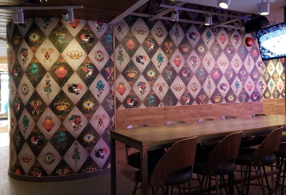 Palasad Interior Wall Mural - Installation by Why Design