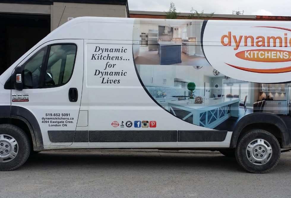 Dynamic Kitchens Vehicle Graphics - Half Wrap - Design & Install by Why Design