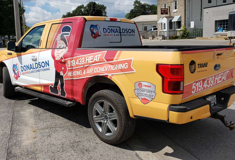 Donaldson Heating & Air Conditioning Vehicle Graphics - Design and Installation by Why Design