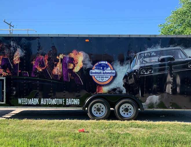 Weedmark Automotive Racing Trailer Design and Installation by Why Design
