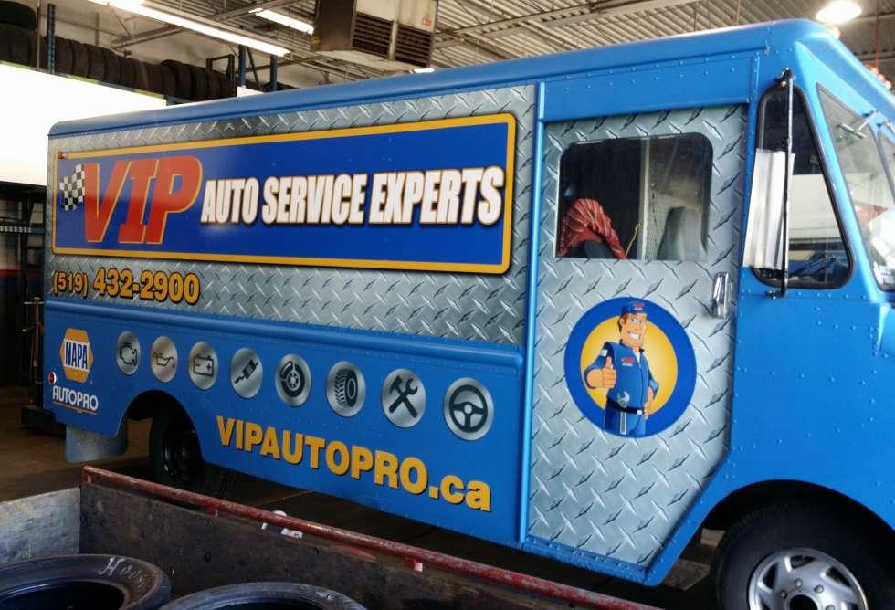 VIP Napa Auto Pro Partial Wrap - Design & Install By Why Design