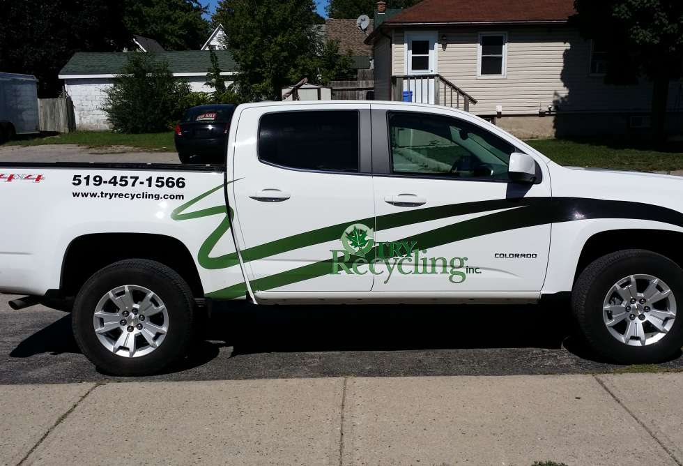 Try Recycling Truck Decals - Design and Install by Why Design