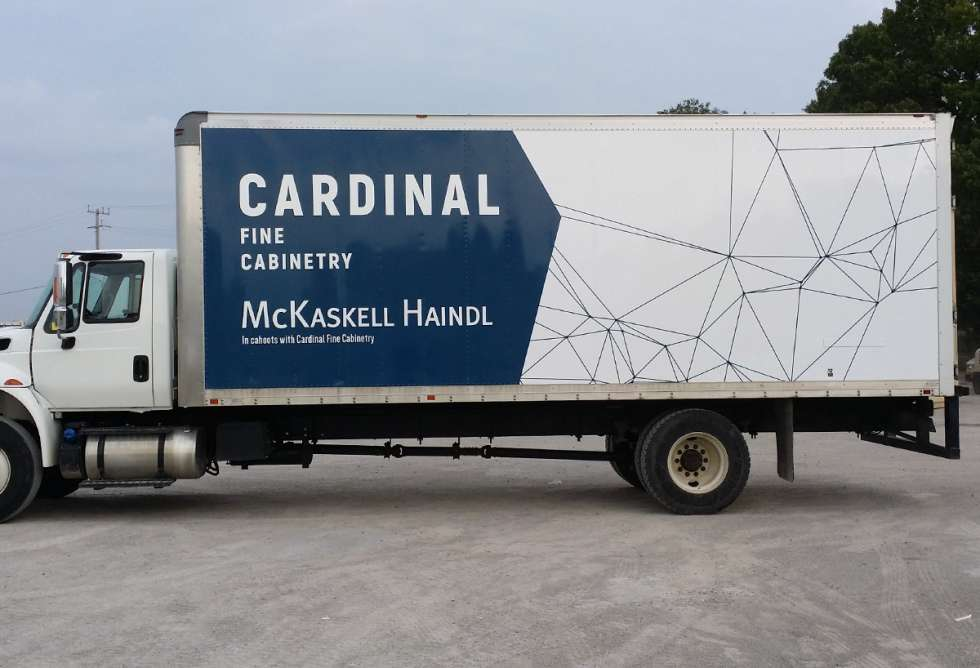 Cardinal Fine Cabinetry - Truck Graphics - Installation By Why Design