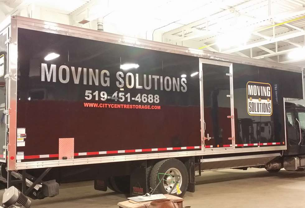 Moving Solutions Truck Lettering by Why Design