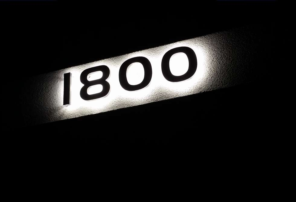 Destination Lights - House Numbering by Why Design