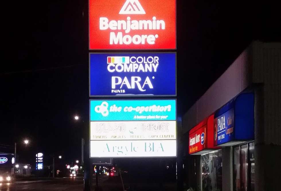 Color Company Pylon Sign