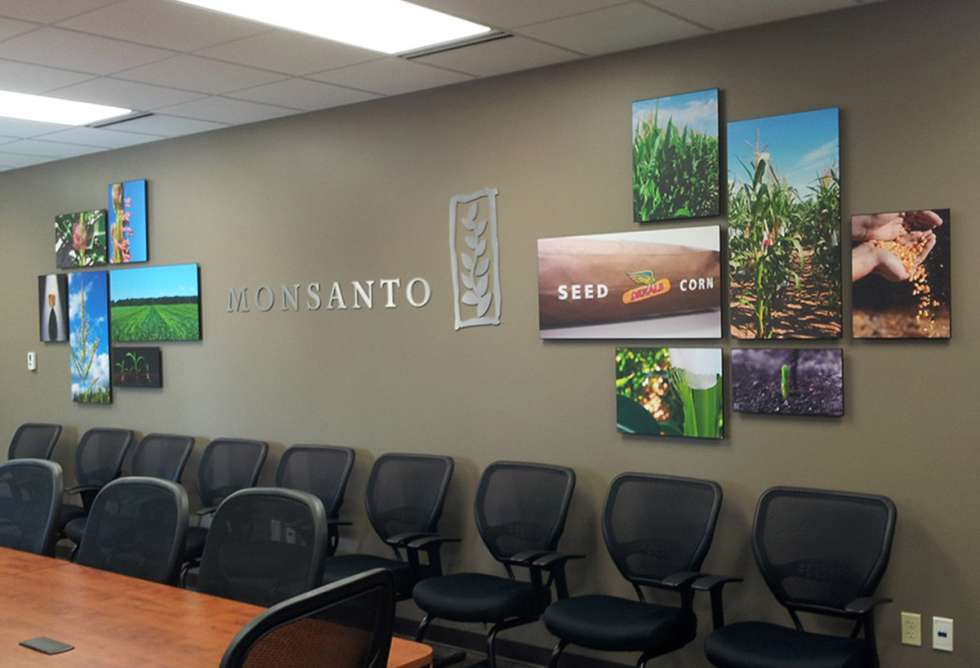 Monsanto Dimensional Lettering & Float Mount Photo Boards - by Why Design