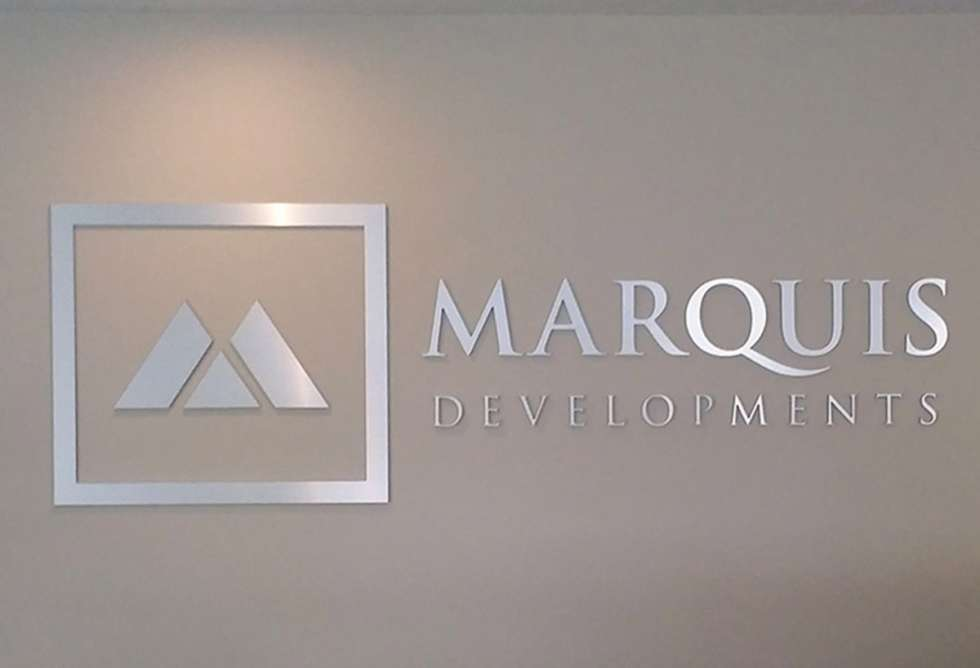 Marquis Developments Interior Dimensional Lettering - By Why Design