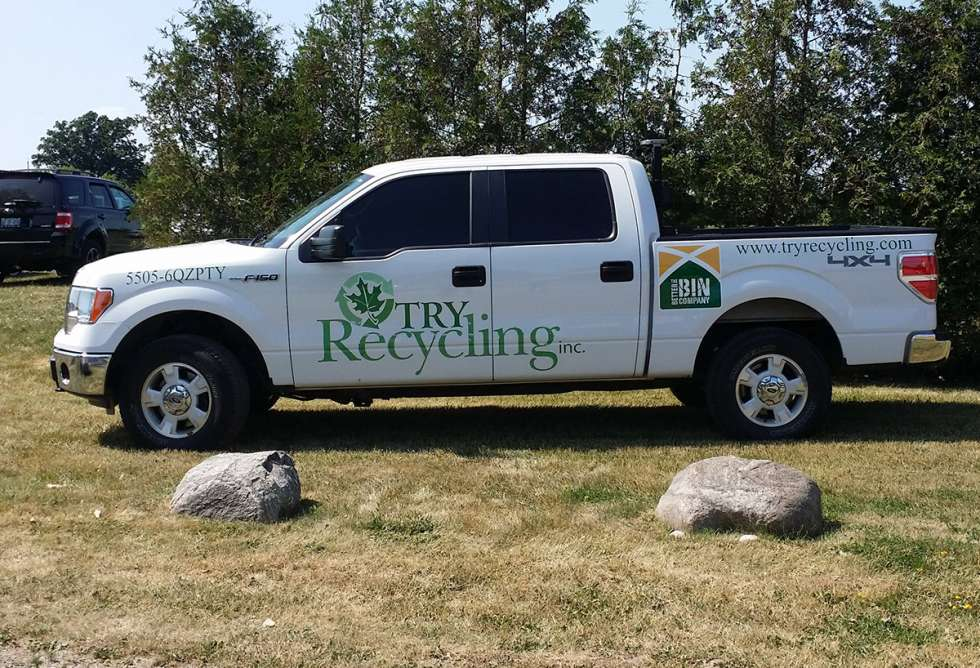 Try Recycling Truck Decals Design and Install by Why Design