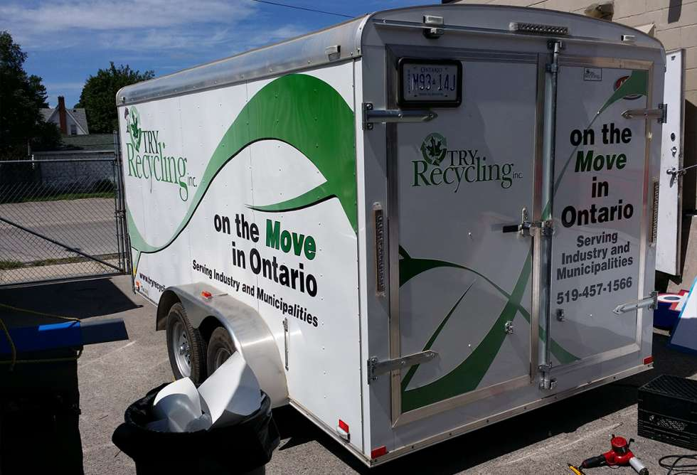 Try Recycling Trailer Wrap Design and Install by Why Design
