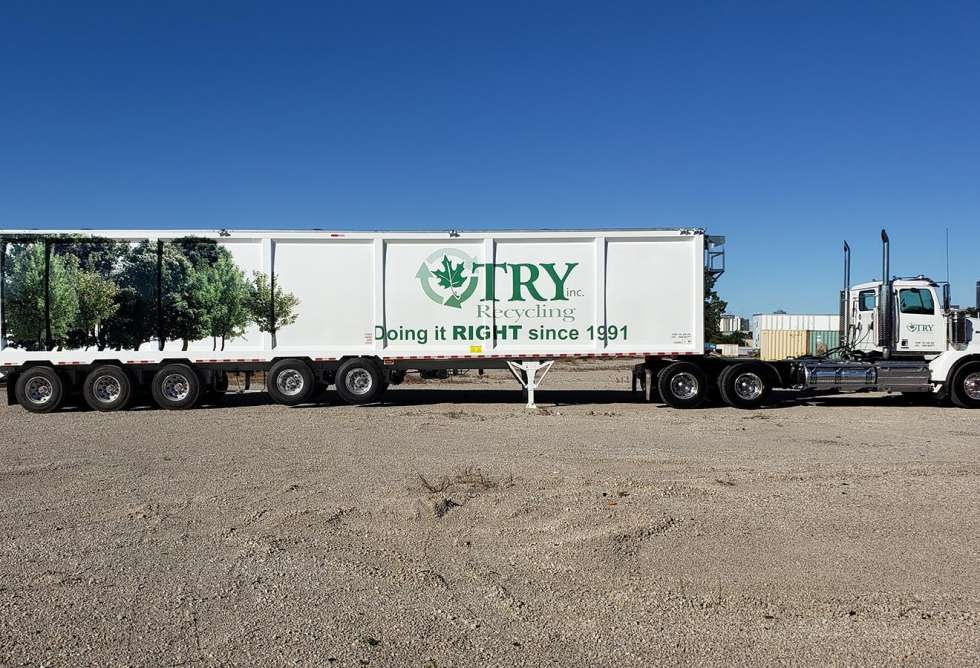 Try Recycling Trailer Wrap 1