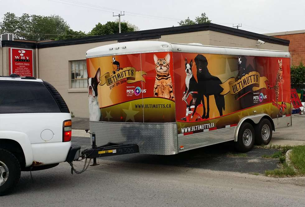 Ultimutts Stunt Dog Show Trailer Wrap - Design and Install by Why Design