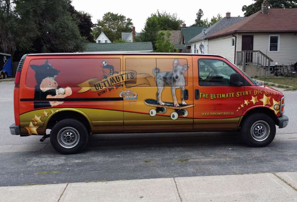 Ultimutts Stunt Dog Show Van and Wrap - Design and Install by Why Design