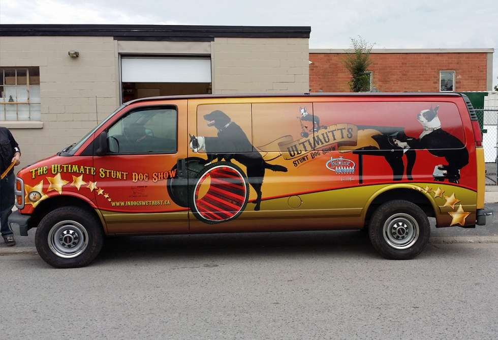 Ultimutts Stunt Dog Show Van Wrap - Design and Install by Why Design