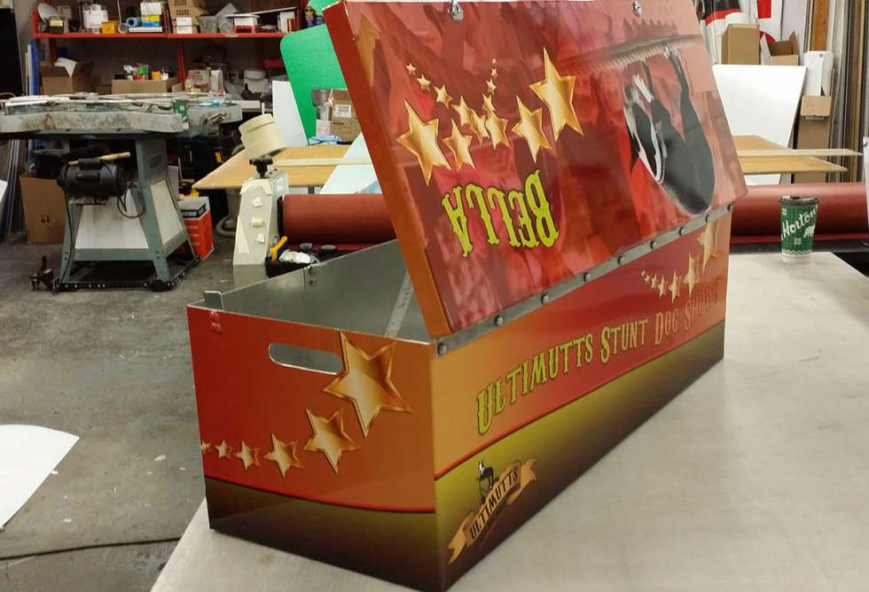 Ultimutts Stunt Dog Show Box Wrap by Why Design