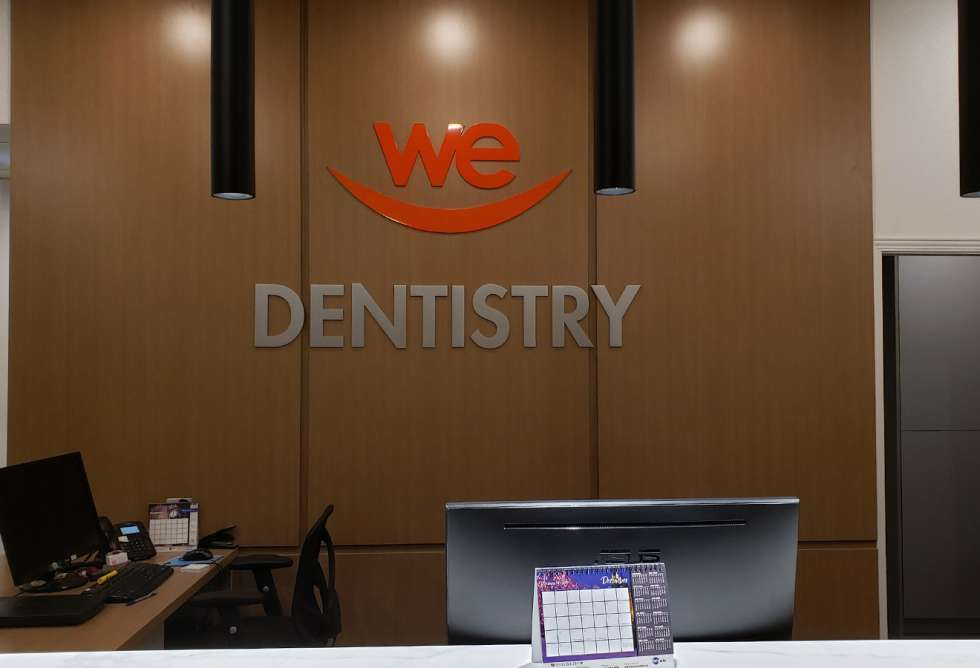 We Smile Dentistry Interior Dimensional Lettering by Why Design