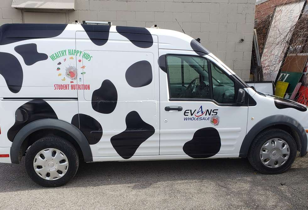 Evans Wholesale Van Graphics - Design and Install by Why Design