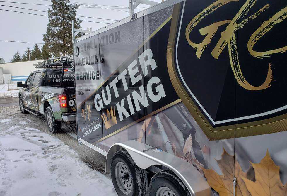 Full design and installation of Gutter King Canada vehicle wrap