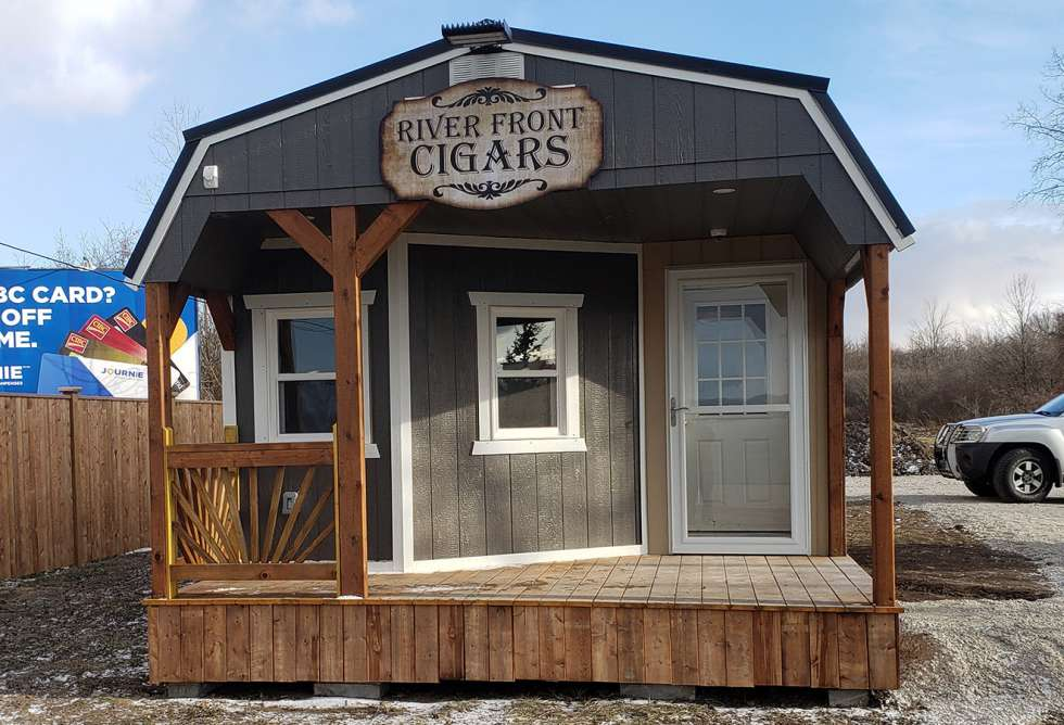 River Front Cigars Exterior Signage - Design and Install by Why Design