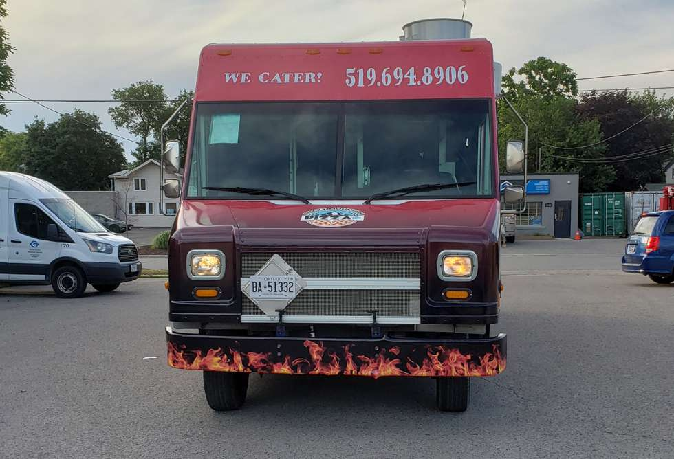 Rocky Mountain Pizza+ Food Truck Wrap - Design and Installation by Why Design - front view